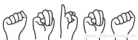 Anina im Fingeralphabet der Deutschen Gebärdensprache
