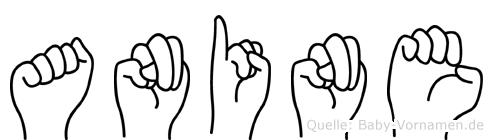 Anine in Fingersprache für Gehörlose