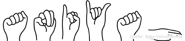 Aniyah in Fingersprache für Gehörlose