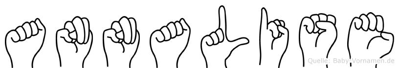 Annalise im Fingeralphabet der Deutschen Gebärdensprache