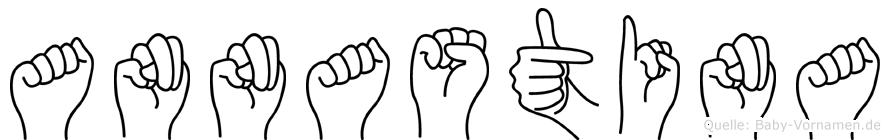 Annastina im Fingeralphabet der Deutschen Gebärdensprache