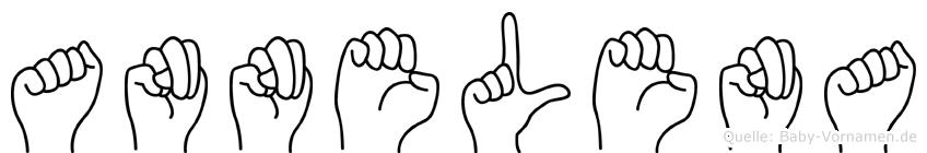 Annelena im Fingeralphabet der Deutschen Gebärdensprache
