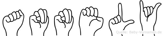 Annely im Fingeralphabet der Deutschen Gebärdensprache