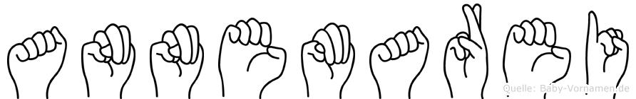 Annemarei im Fingeralphabet der Deutschen Gebärdensprache