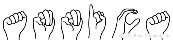 Annica im Fingeralphabet der Deutschen Gebärdensprache