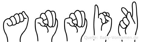 Annik im Fingeralphabet der Deutschen Gebärdensprache