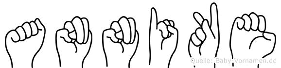Annike in Fingersprache für Gehörlose