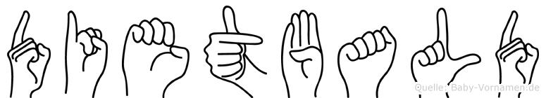 Dietbald im Fingeralphabet der Deutschen Gebärdensprache