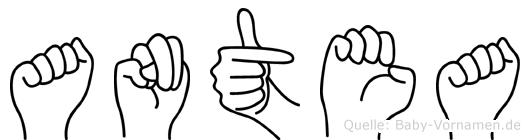 Antea im Fingeralphabet der Deutschen Gebärdensprache