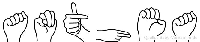 Anthea in Fingersprache für Gehörlose