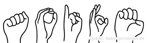Aoife im Fingeralphabet der Deutschen Gebärdensprache