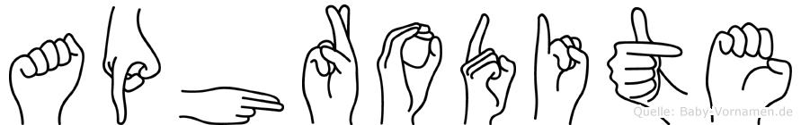 Aphrodite in Fingersprache für Gehörlose