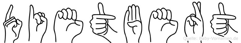 Dietbert in Fingersprache für Gehörlose