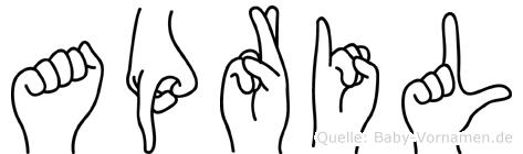 April im Fingeralphabet der Deutschen Gebärdensprache