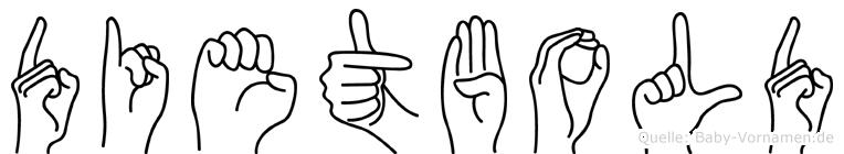 Dietbold im Fingeralphabet der Deutschen Gebärdensprache