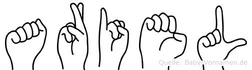 Ariel in Fingersprache für Gehörlose