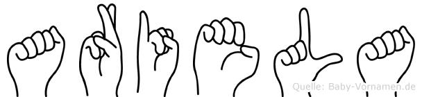 Ariela in Fingersprache für Gehörlose