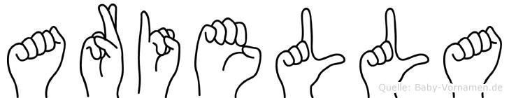 Ariella im Fingeralphabet der Deutschen Gebärdensprache