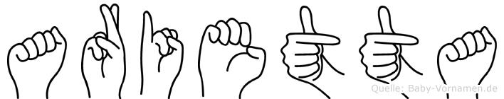 Arietta in Fingersprache für Gehörlose