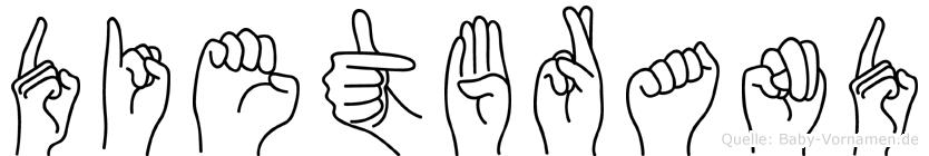 Dietbrand in Fingersprache für Gehörlose