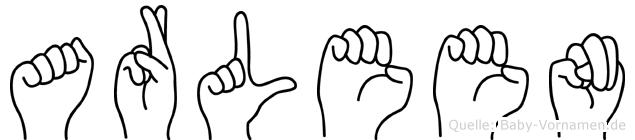 Arleen im Fingeralphabet der Deutschen Gebärdensprache