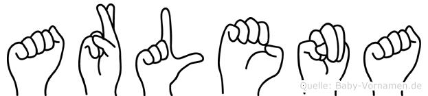 Arlena im Fingeralphabet der Deutschen Gebärdensprache