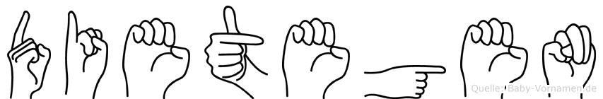 Dietegen im Fingeralphabet der Deutschen Gebärdensprache