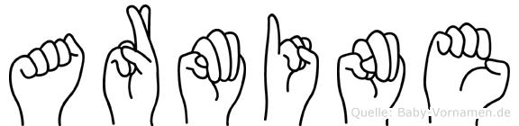Armine in Fingersprache für Gehörlose