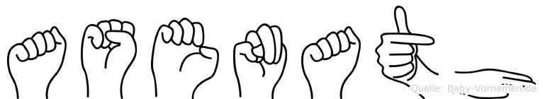Asenath in Fingersprache für Gehörlose