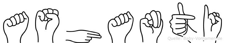 Ashanti in Fingersprache für Gehörlose
