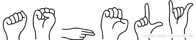 Ashely in Fingersprache für Gehörlose