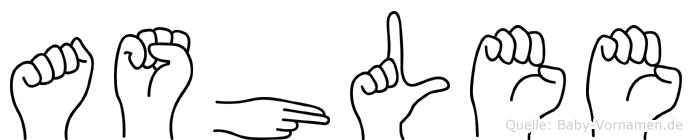 Ashlee in Fingersprache für Gehörlose