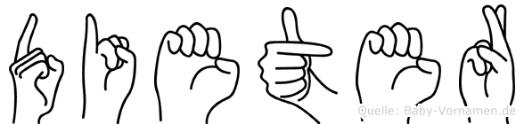 Dieter in Fingersprache für Gehörlose
