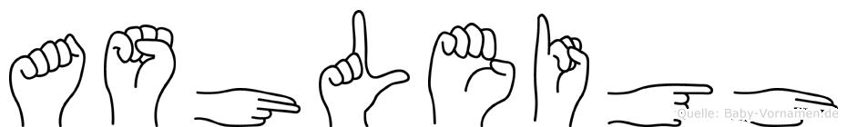 Ashleigh in Fingersprache für Gehörlose