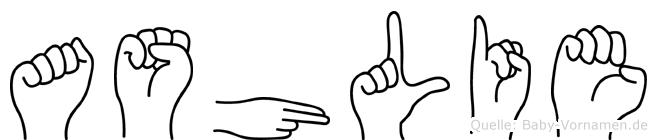 Ashlie in Fingersprache für Gehörlose