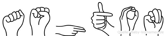 Ashton in Fingersprache für Gehörlose