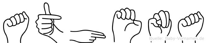 Athena im Fingeralphabet der Deutschen Gebärdensprache
