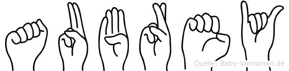 Aubrey in Fingersprache für Gehörlose