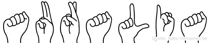 Auralia in Fingersprache für Gehörlose