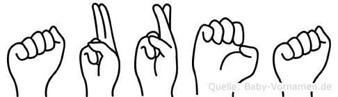 Aurea in Fingersprache für Gehörlose
