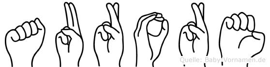 Aurore in Fingersprache für Gehörlose