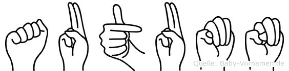 Autumn in Fingersprache für Gehörlose