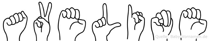 Aveline in Fingersprache für Gehörlose