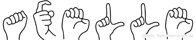 Axelle im Fingeralphabet der Deutschen Gebärdensprache