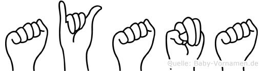 Ayana im Fingeralphabet der Deutschen Gebärdensprache