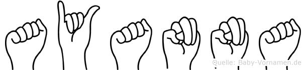 Ayanna im Fingeralphabet der Deutschen Gebärdensprache