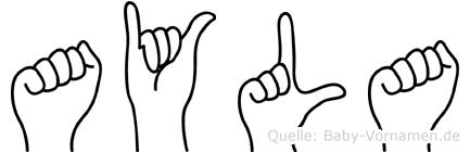 Ayla in Fingersprache für Gehörlose