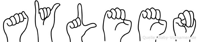 Ayleen in Fingersprache für Gehörlose