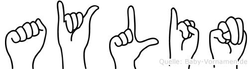 Aylin in Fingersprache für Gehörlose