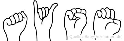 Ayse im Fingeralphabet der Deutschen Gebärdensprache